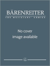 Sinfonias I-III (D maj; G maj; C maj). : Score & parts: (Barenreiter)