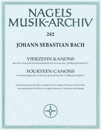 Canons (14) (2-6 pt) (BWV 1087). : Score & parts: (Barenreiter)