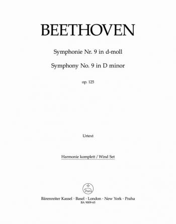 Symphony No.9 in D minor, Op.125 (Choral) (Urtext). : Wind set: (Barenreiter)
