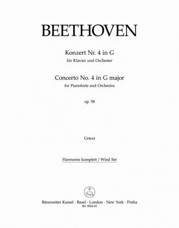 Piano Concerto No.4 in G, Op.58 (Urtext). : Wind set: (Barenreiter)