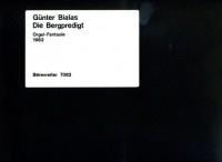 Die Bergpredigt, Organ Fantasy (1982). : Organ: (Barenreiter)