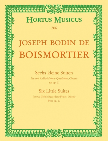 Short Suites (6), from Op.27. : 2 Treble Recorders: (Barenreiter)