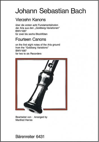Canons (14) (2-6 pt) (BWV 1087). : Recorder Ensemble: (Barenreiter)