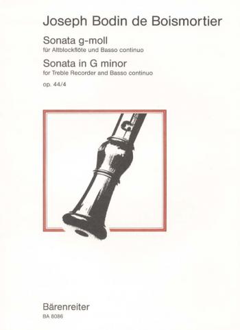 Sonata G minor, Op.44/4. : Treble Recorder & Piano: (Barenreiter)