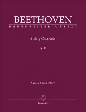 String Quartets, Op.18 Nos. 1 - 6 (Urtext). Critical Commentary (Barenreiter)
