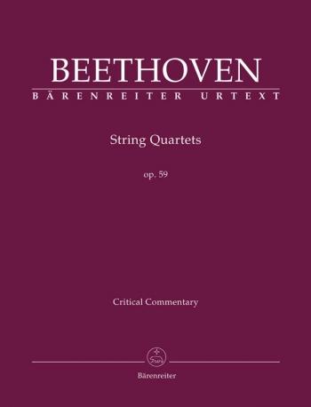 String Quartets, Op.59 Nos. 1 - 3 (Urtext).Critical Commentary (Barenreiter)