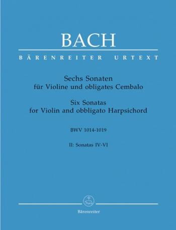 Sonatas (6) (BWV 1017 - 1019), Vol. 2 (Urtext). : Violin & Piano: (Barenreiter)