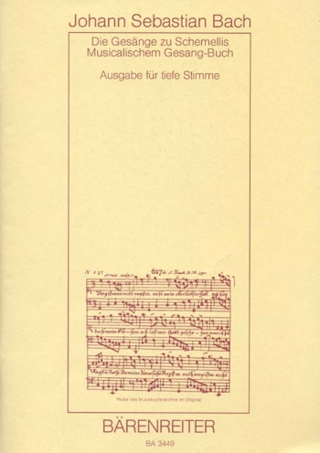 Schemelli Songbook 1736 & 6 Lieder from the Notebook for Anna Magdalena Bach 1725 (G).: Voice: (Bare
