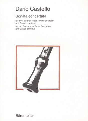 Sonata concertata. : 2 Descant Recorders: (Barenreiter)