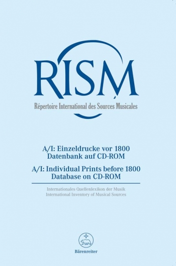RISM (G) (Repertoire International des Sources Musicales). Series A/I: Miscellaneous Prints before 1