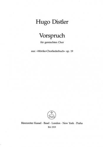 Vorspruch (G). : Choral: (Barenreiter)