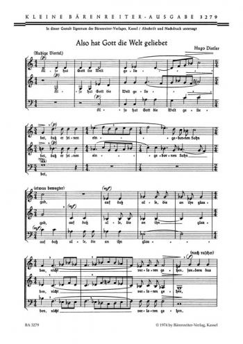 Also hat Gott die Welt geliebet Op.5/16. : Choral: (Barenreiter)