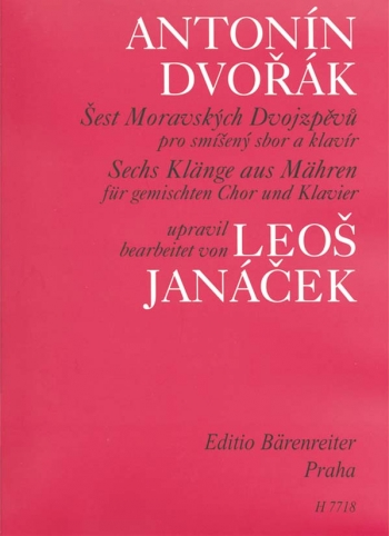Moravian Duets (6), arranged by Leos Janacek (Cz-G). : Choral: (Barenreiter)