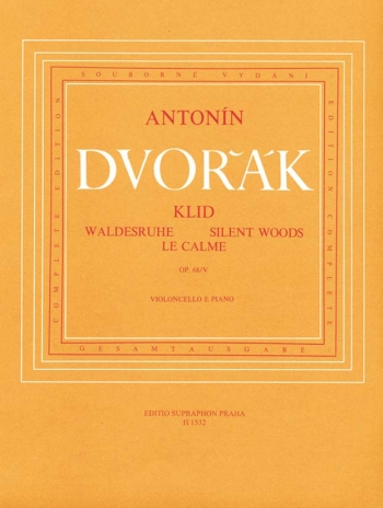 Silent Woods, Op.68/ 5.  Cello & Piano: (Barenreiter)
