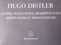 Short Organ Chorale Arrangements, Op.8/ 3. : Organ: (Barenreiter)