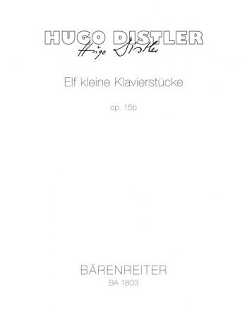 Little Piano Pieces for Children (11), Op.15b. : Piano: (Barenreiter)
