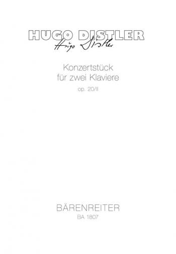 Concert Piece, Op.20/2. : 2 Pianos: (Barenreiter)