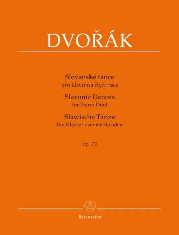 Slavonic Dances, Op.72 (Series II, Nos. 1 - 8). : Piano 4 hands: (Barenreiter)