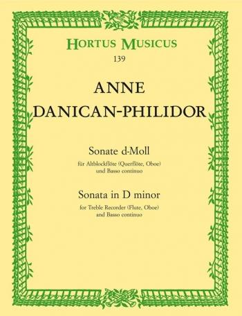 Sonata in D minor. : Treble Recorder & Piano: (Barenreiter)