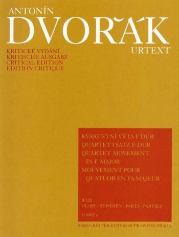 Quartet Movement in F (B.120). : String Quartet: (Barenreiter)