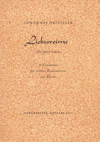 Liebesreime, Op.10/ 2. : Voice: (Barenreiter)