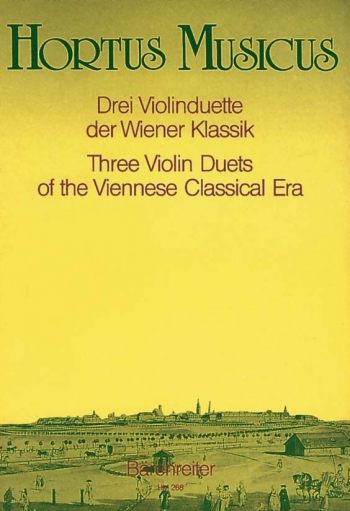 Violin Duets (3) of the Viennese Classic Period. : 2 Violins: (Barenreiter)
