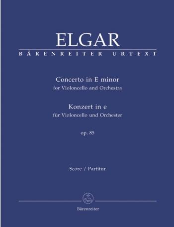 Concerto for Violoncello in E minor, Op.85 (Urtext). : Large Score Paperback: (Barenreiter)