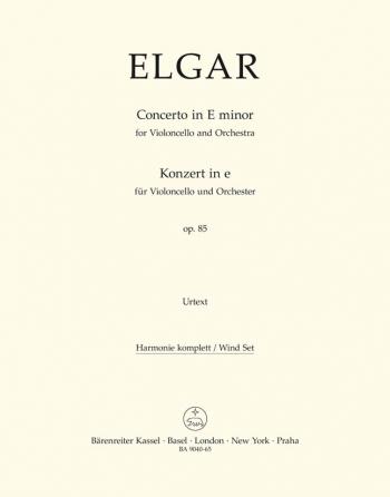 Concerto for Violoncello in E minor, Op.85 (Urtext). : Wind set: (Barenreiter)