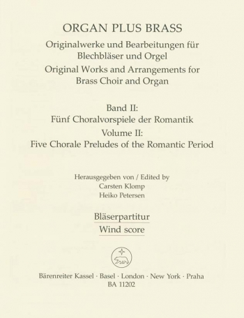 Organ Plus Brass Vol.2. : (wind score in C) : (Barenreiter)