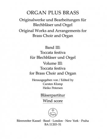 Organ Plus Brass Vol.3. : (wind score in C) : (Barenreiter)