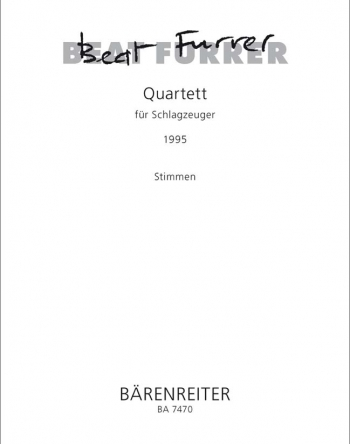 Quartet for Percussion (1995). : Parts: (Barenreiter)