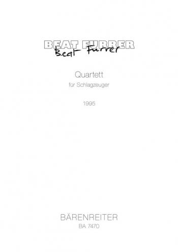Quartet for Percussion (1995). : Playing score: (Barenreiter)