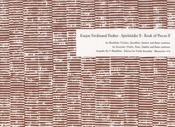 Book of Pieces II: Suites from 'Le Journal du Printemps'. : Treble Recorder & Piano: (Barenreiter)