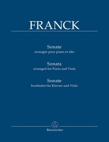 Sonata in A (arrangement).    : Viola: (Barenreiter)