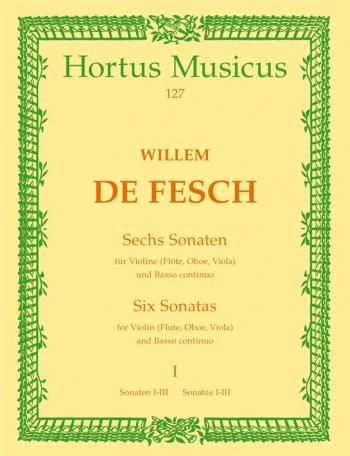 Sonatas (6), Vol. 1: Nos.  1 - 3 (D maj, C min, E min). : Violin & Piano: (Barenreiter)