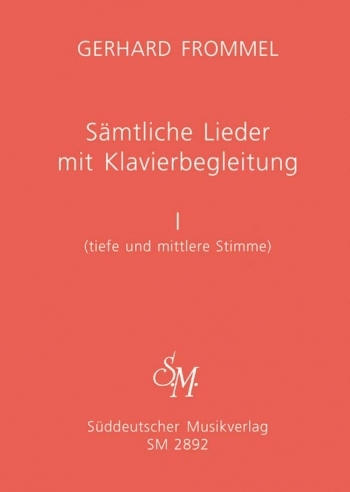 Complete Songs with Piano Accompaniment, Vol.1 (low and medium voice).: Voice: (Barenreiter)