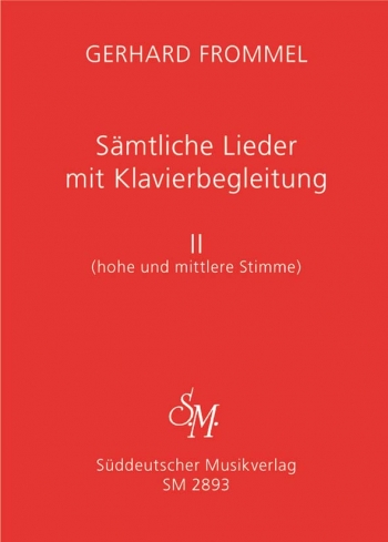 Complete Songs with Piano Accompaniment, Vol.2 (high and medium voice).: Voice: (Barenreiter)