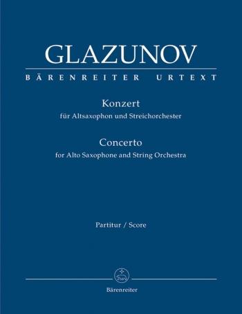 Concerto for Alto Saxophone and String Orchestra, Op.109 (Urtext). : Large Score Paperback: (Barenre