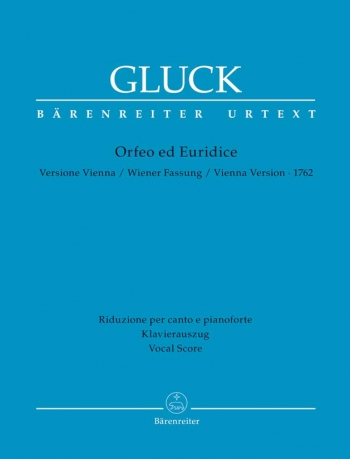 Orfeo ed Euridice (Vienna version 1762) (It-G) (Urtext). : Vocal Score: (Barenreiter)