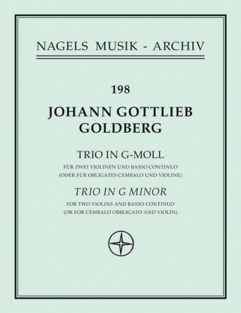 Trio in G minor (Sonata No.5). : 2 Violins & Piano: (Barenreiter)