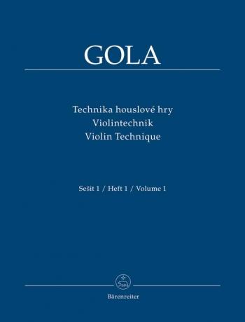 Violin Technique Vol.1 (Cz-G-E). : Violin: (Barenreiter)