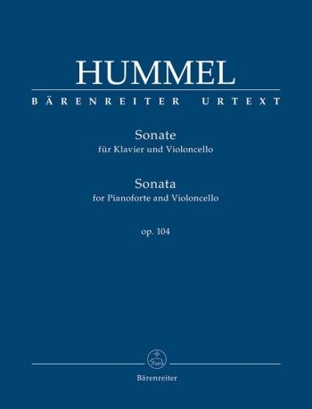 Sonata for Piano and Violoncello, Op.104 (Urtext). : Cello: (Barenreiter)