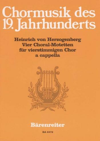 Choral  Motets (4) (G). : SATB: (Barenreiter)