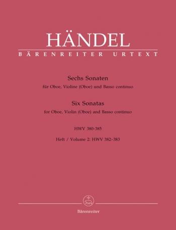 Sonatas (6) (HWV 380-385), Vol. 2: No.3 & 4 (Urtext). : Mixed Ensemble: (Barenreiter)