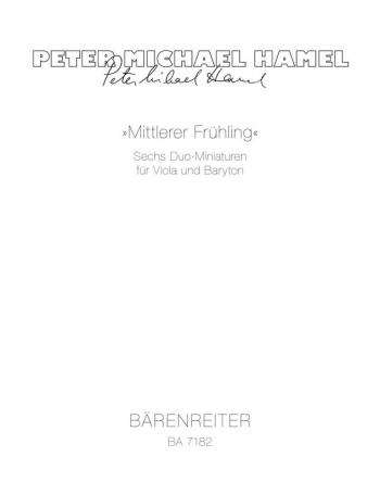 Mittlerer Fruehling. Six Miniatures (1983/1987). : Mixed Ensemble: (Barenreiter)