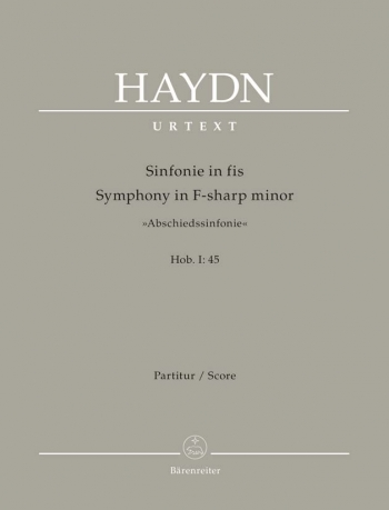Symphony No. 45 in F-sharp minor (Farewell) (Hob.I:45) (Urtext). : Large Score Paperback: (Barenreit
