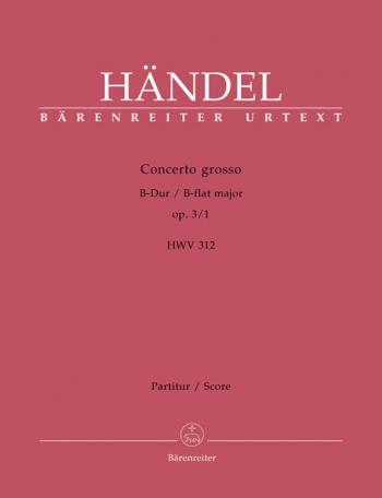 Concerto grosso Op.3/ 1 in B-flat (Urtext). : Large Score Paperback: (Barenreiter)