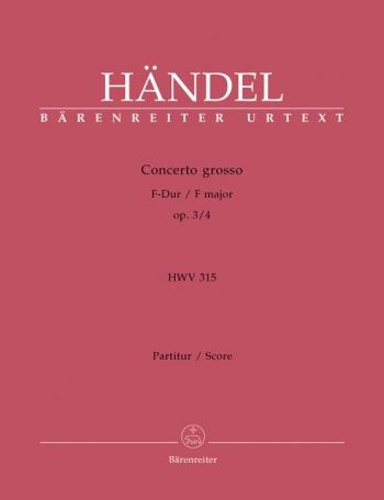 Concerto grosso Op.3/ 4 in F (Urtext). : Large Score Paperback: (Barenreiter)
