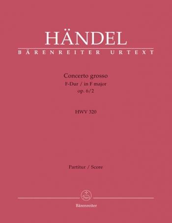 Concerto grosso Op.6/ 2 in F (Urtext). : Large Score Paperback: (Barenreiter)