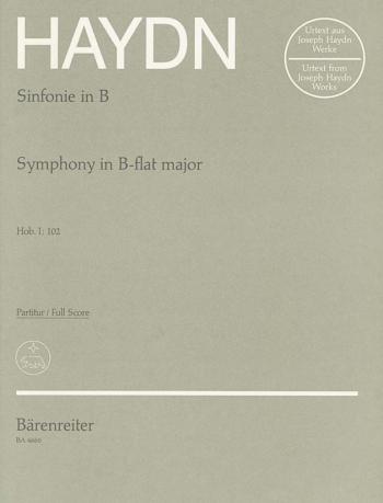 Symphony No.102 in B-flat (Hob.I:102) (London No.10) (Urtext). : Large Score Paperback: (Barenreiter